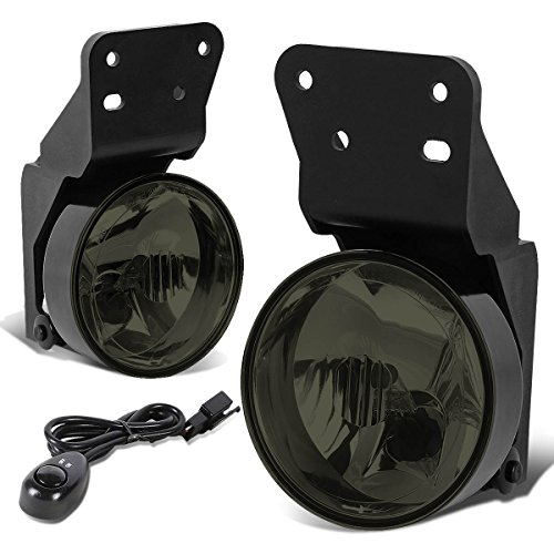 For Pontiac Grand AM Pair of Bumper Fog Lights + Switch (Smoked Lens)