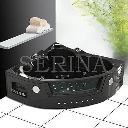 Baignoire Balneo D Angle Noire Whirlpool 30 Jets Jasmine Edition Noire Pack Luxe Amazon Fr Cuisine Maison