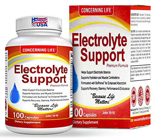 (Electrolyte Supplement Vegetable Capsules -Low Carb, Rehydration & Recovery - Perfect for Keto, Electrolytes Replacement, Athletes, Runners - Vitamin D, Electrolyte Salts, Magnesium, Sodium, Tablets)