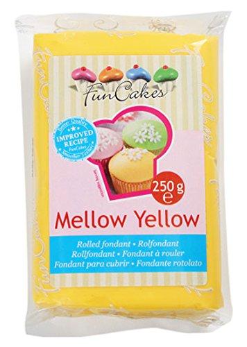 7 opinioni per FunCakes Pasta di Zucchero Giallo - pacco da 250 grammi
