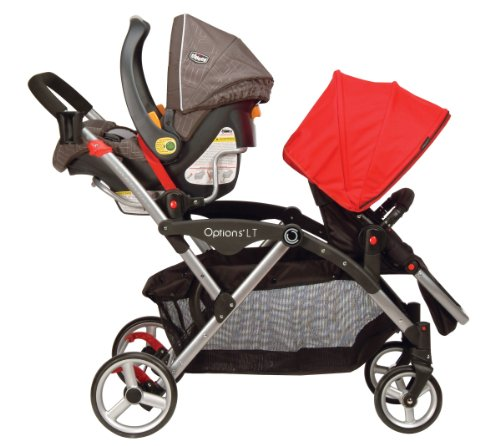 Amazon.com : Contours Options LT Tandem Stroller, Crimson Red ...