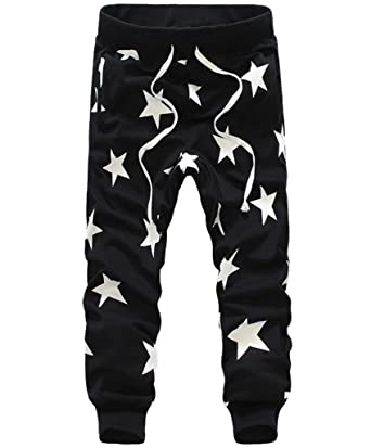 7c6b3a8298503f Men's Star Printing Hip Hop Sweat Pants Harem Dance Jogger Baggy Trousers  Slack