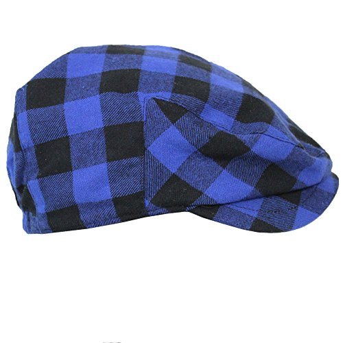Blue 3 Cap - juDanzy Baby & Toddler Plaid Cabbie Hats (1-4 Years, Blue Buffalo)