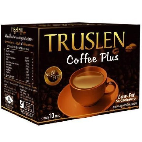 12x Truslen Instant Coffee Plus Sugar Free LOW FAT Wholesale Price Made of Thailand by SeaKrabi