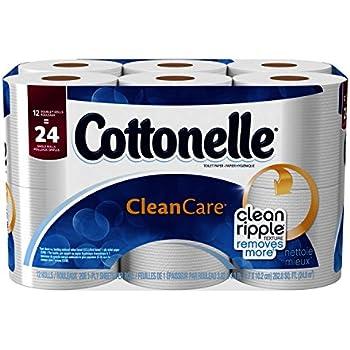 Amazon Com Cottonelle Clean Care Double Roll Toilet Paper