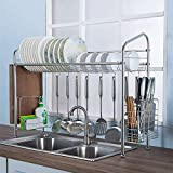 lquide Dishwasher Above The Washbasin Professional Dishwasher Multi-Purpose Drainer with Large Capacity 60 cm Stainless Steel Kitchen Shelf