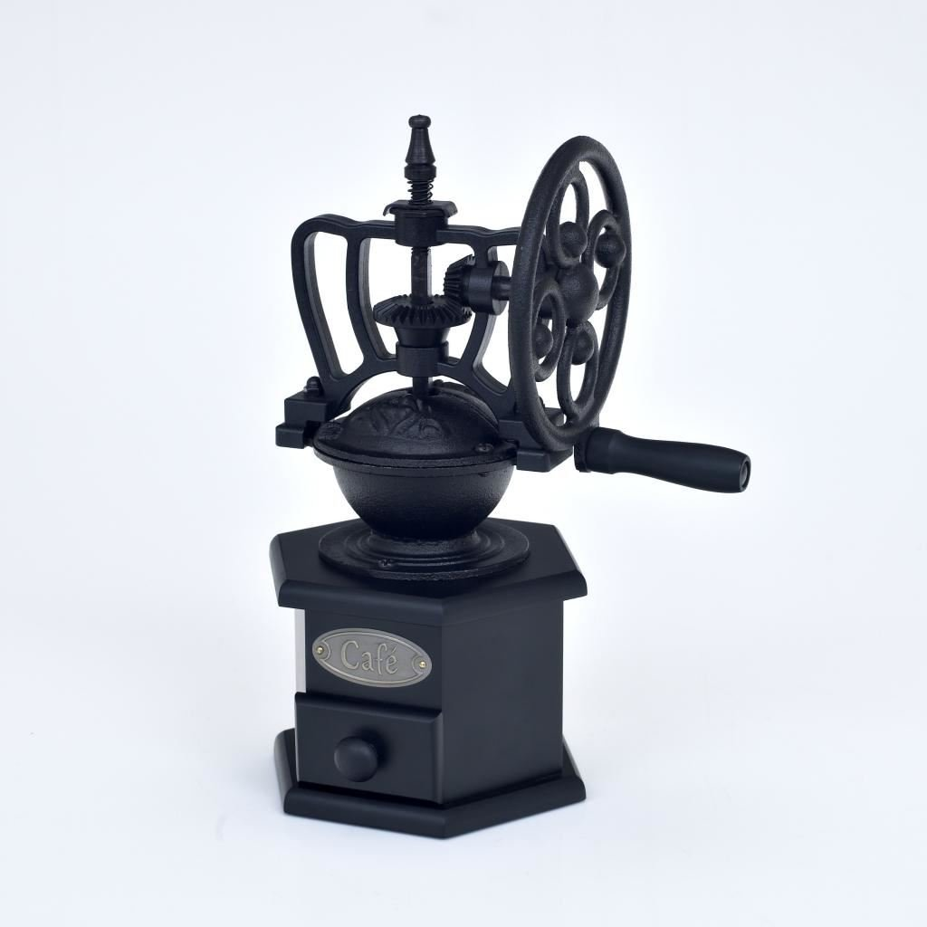 Victor Black Cast Iron Large Coffee Grinder by Victor
