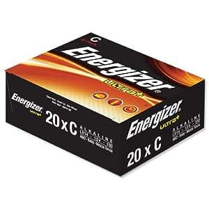 Energizer Ultra+ C/LR14 - Paquete de 20 pilas C