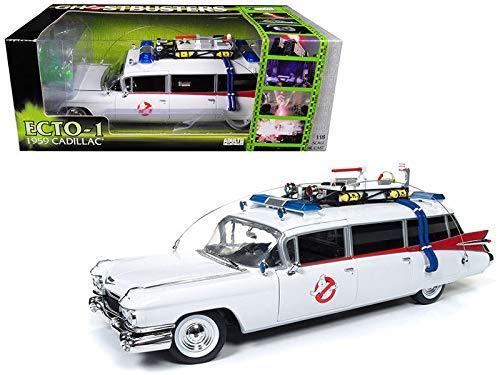 BHCAT Ghostbusters 1959 Cadillac Ambulance Ecto-1 Diecast Car 1:18 11 inch ()