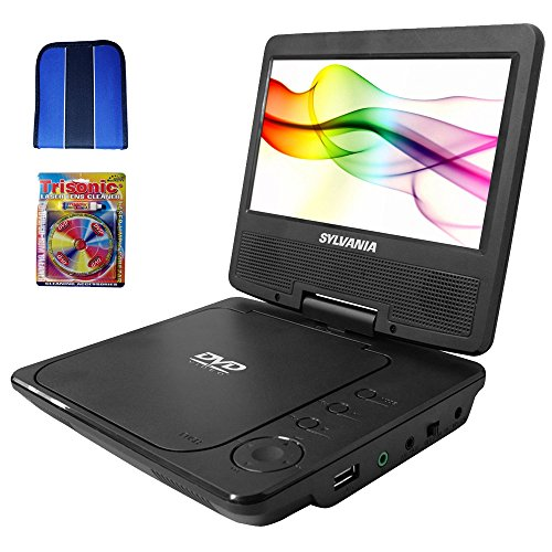 "Sylvania Portable DVD Player 7"" Swivel Screen  - Black - Ess"