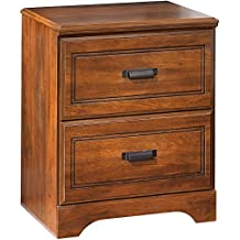 Signature Design by Ashley Two Drawer Nightstand in Medium Brown Finish