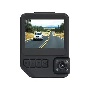 Car Dash Cam Two Cameras-Amacam AM-C19 Night Vision DVR 1080P Superior Dual Video Recording External Video Vehicle Recorder & Internal Cabin Recorder Car & Taxi Black Box Security Dashcam