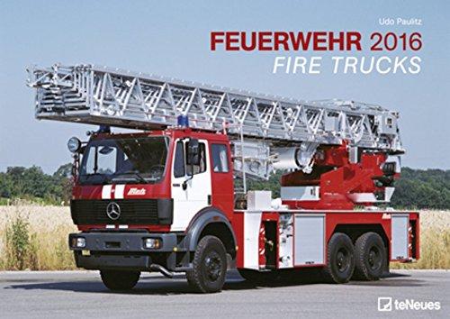 Feuerwehrautos 2016- Wandkalender A3 / Posterkalender-Spiralbindung- 42 x 29,7 cm