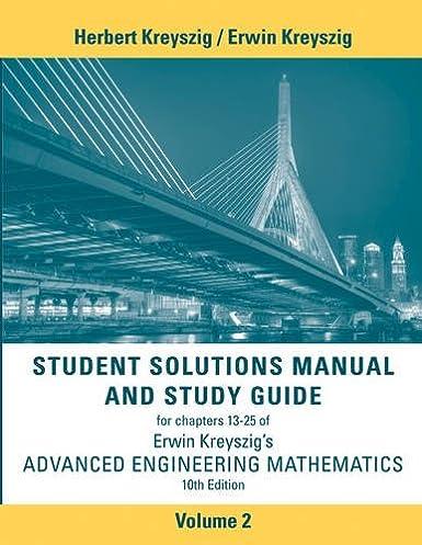 student solutions manual advanced engineering mathematics volume 2 rh amazon com Advanced Engineering Mathematics Problems Advanced Engineering Mathematics Problems