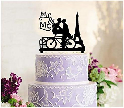 Decoración para tarta de boda gay, decoración para cupcakes ...