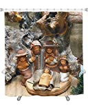 Gear New Nativity Scene with Holy Family in South American Style Shower Curtain, 74'' X 71''