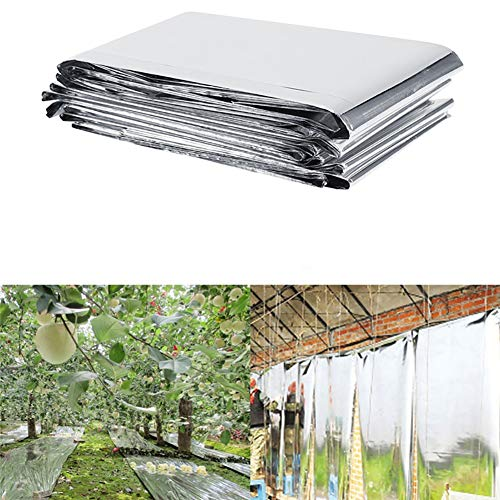 Yamalans Foldable Plant PETP Reflective Film Garden Greenhouse Cover Accessories Silver 210cm x 120cm by Yamalans (Image #2)