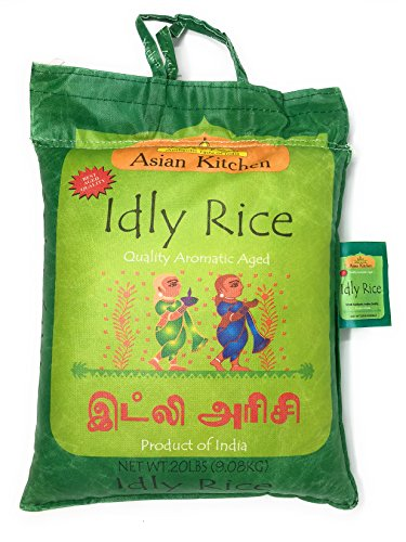 Asian Kitchen Idly (Idli) Rice 20lbs Pound Bag (9.08kg) Short Grain Rice ~ All Natural | Gluten Free | Vegan | Indian Origin | Export Quality