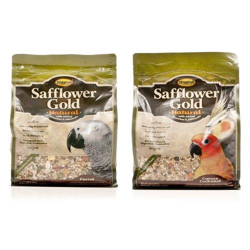 HIGGINS 466125 Higg Safflower Gold Natural Food for Conure/Tiel, 25-Pound, My Pet Supplies