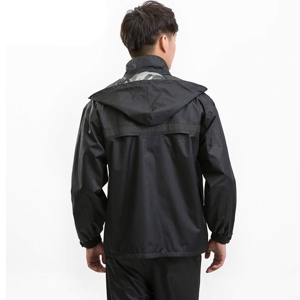 Navy (Male) X-grand ZHANGQIANG-Combinaison de Pluie vêteHommests de Pluie Combinaison Imperméable Nouveau Pantalon De Veste Imperméable Fixé Manteau De Pluie pour Hommes Haute Visibilité