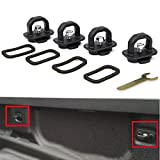 4 pcs Truck Bed Side Wall Anchors Tie Downs Anchors Hook Ring for 2007-2018 Chevy Silverado GMC Sierra, 2015-2018 Colorado Canyon