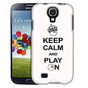 Samsung Galaxy S4 Case, Slim Fit Snap On Cover by Trek KEEP CALM And Play On - Bowling on White Case