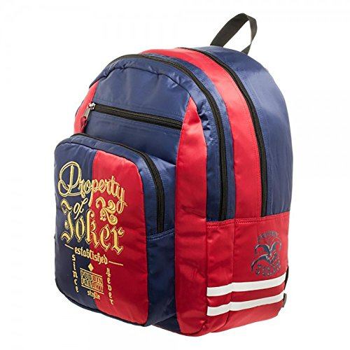 [Harley Quinn Suicide Squad Property Of Joker Backpack Bag] (Joker Costumes Kids)