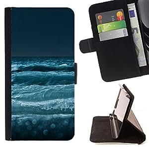 Momo Phone Case / Flip Funda de Cuero Case Cover - Naturaleza Mar Olas - Samsung Galaxy S6 EDGE