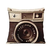 British Style Retro Camera Creative Fashion Household Linen Pillowcase Throw Cushion Nap Pillow Cushion Lumbar Pad