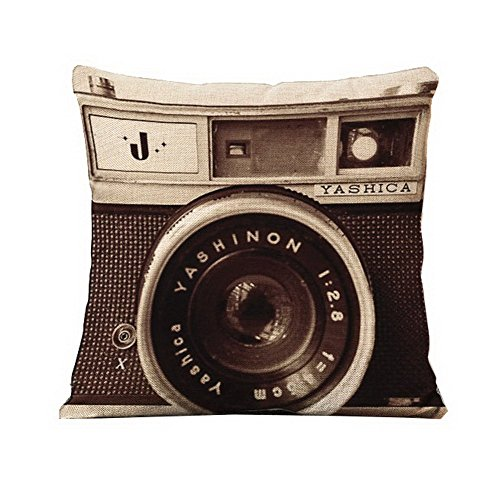 British Style Retro Camera Creative Fashion Household Linen Pillowcase Throw Cushion Nap Pillow Cushion Lumbar Pad