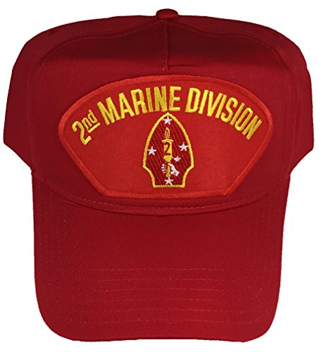 2ND MARINE DIVISION HAT - RED - Veteran Owned Business (Division Hat Marine)