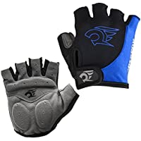 Tianmei 2PCS New Fashion Men's Women's Sportswear Cycling Mountain Bike Bicycle Motorcycle Riding Gloves Outdoor Sports Non-Slip Shockproof Half Finger Short Gloves