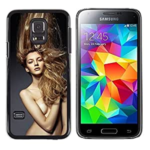 LECELL--Funda protectora / Cubierta / Piel For Samsung Galaxy S5 Mini, SM-G800, NOT S5 REGULAR! -- Blond Hair Naked Woman --