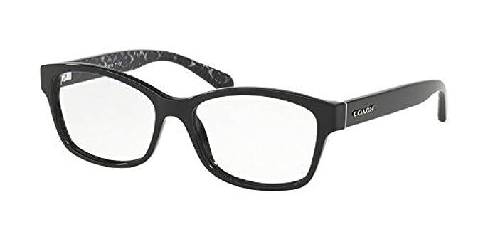 9d4ca6f50aaa3 Coach Women s HC6116 Eyeglasses Black Demo 52mm at Amazon Women s Clothing  store