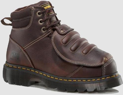 Dr. Martens Men's Ironbridge MG ST Steel-Toe Met Guard Boot,Teak,12 UK/13 M US
