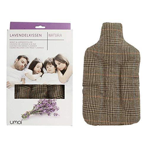 UMOI Lavendel & Weizen Kissen für Entspannung und Wohlbefinden zum Aufwärmen im Backofen oder Mikrowelle in Form einer Wärmflasche (British)