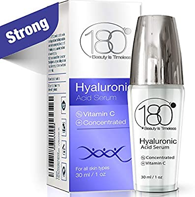 Hyaluronic Acid Serum For Face - 180 Cosmetics - Face Serum For Face and Eyes - Pure Hyaluronic Acid Serum for Reduced Wrinkles and Fine Line and Visibly Plumped and Hydrated Skin - 1oz