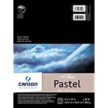 CANSON Mi-Teintes Black Pad for Pastels, 24 Sheets, 9 by 12-Inch