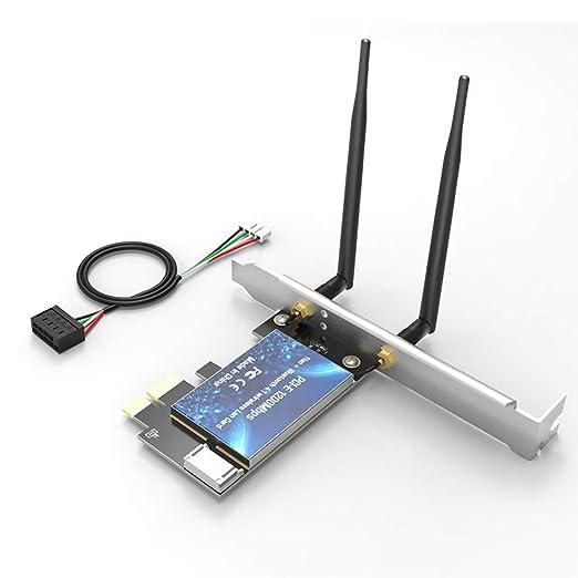 Cosay EDUP - Adaptador de Tarjeta Wi-Fi (1200 Mbit/s, Bluetooth ...