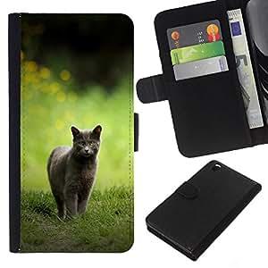 """JackGot ( Gato Caza"""" ) HTC DESIRE 816 la tarjeta de Crédito Slots PU Funda de cuero Monedero caso cubierta de piel"""