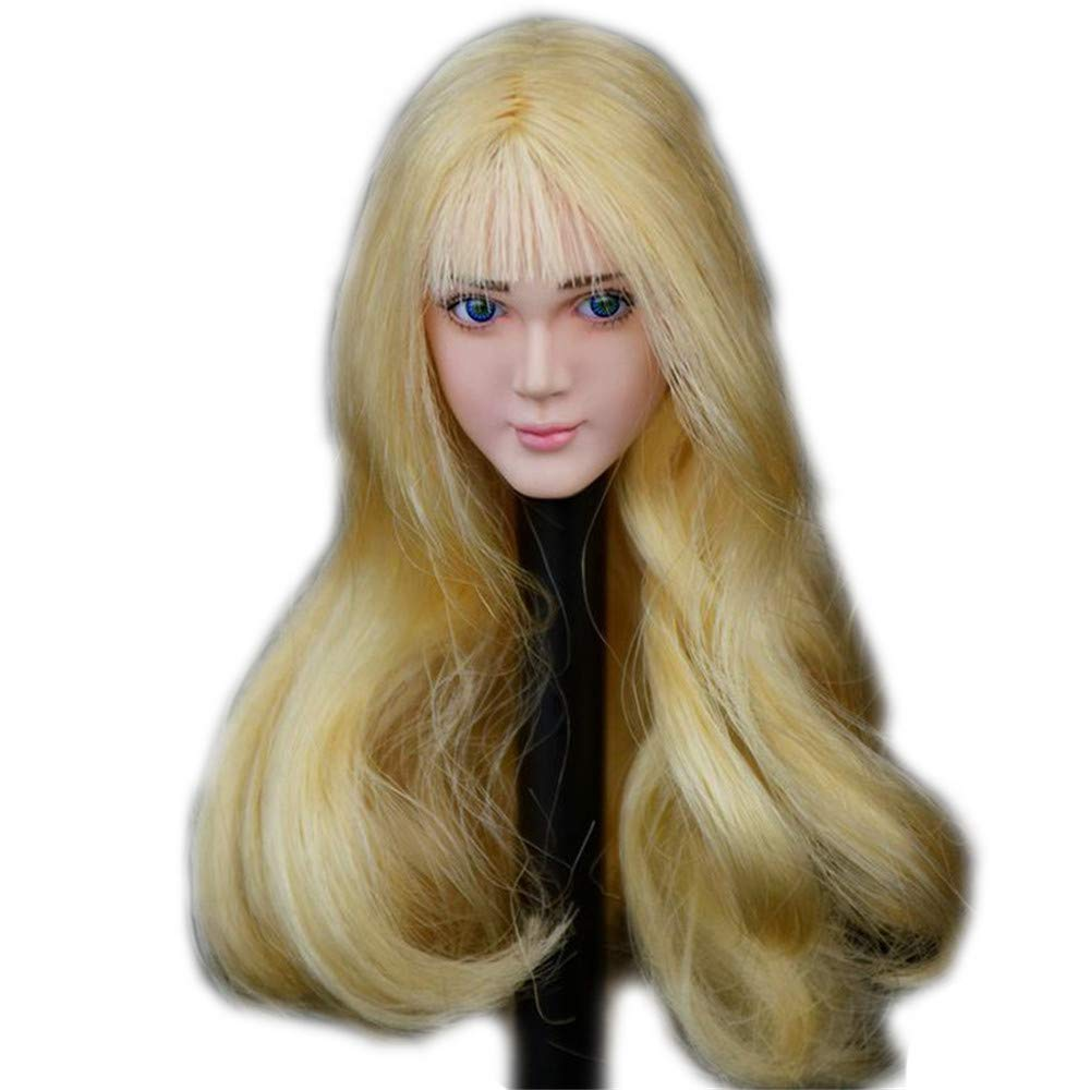 Asian Beuty Charming Girl Doll Head for 12 Action Figure Phicen TBLeague Obitsu HP063 Eye Movable Type HiPlay 1//6 Scale Female Figure Head Sculpt