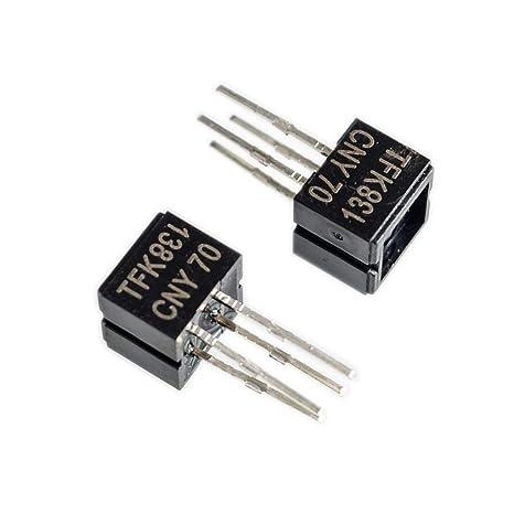 Mayata - 10 sensores ópticos Reflectantes CNY70 con Salida de Transistor Dip-4