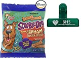 Keebler - Scooby-Doo Scooby Snack Graham Cracker Cookies, 1 Ounce Bags (set of 50 and BHS bag saver clip)