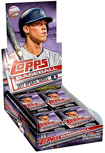 10k Hockey Charm - 2017 Topps Baseball Update Series Hobby Box 36 Packs of 10 Cards - Possible Cody Bellinger, Aaron Judge, All-Star game cards