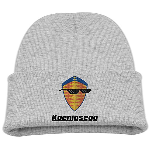 Babala Sunglass With Koenigsegg Car Logo Child Knitted Beanie Cap Hat Skull (Knitted Glass)
