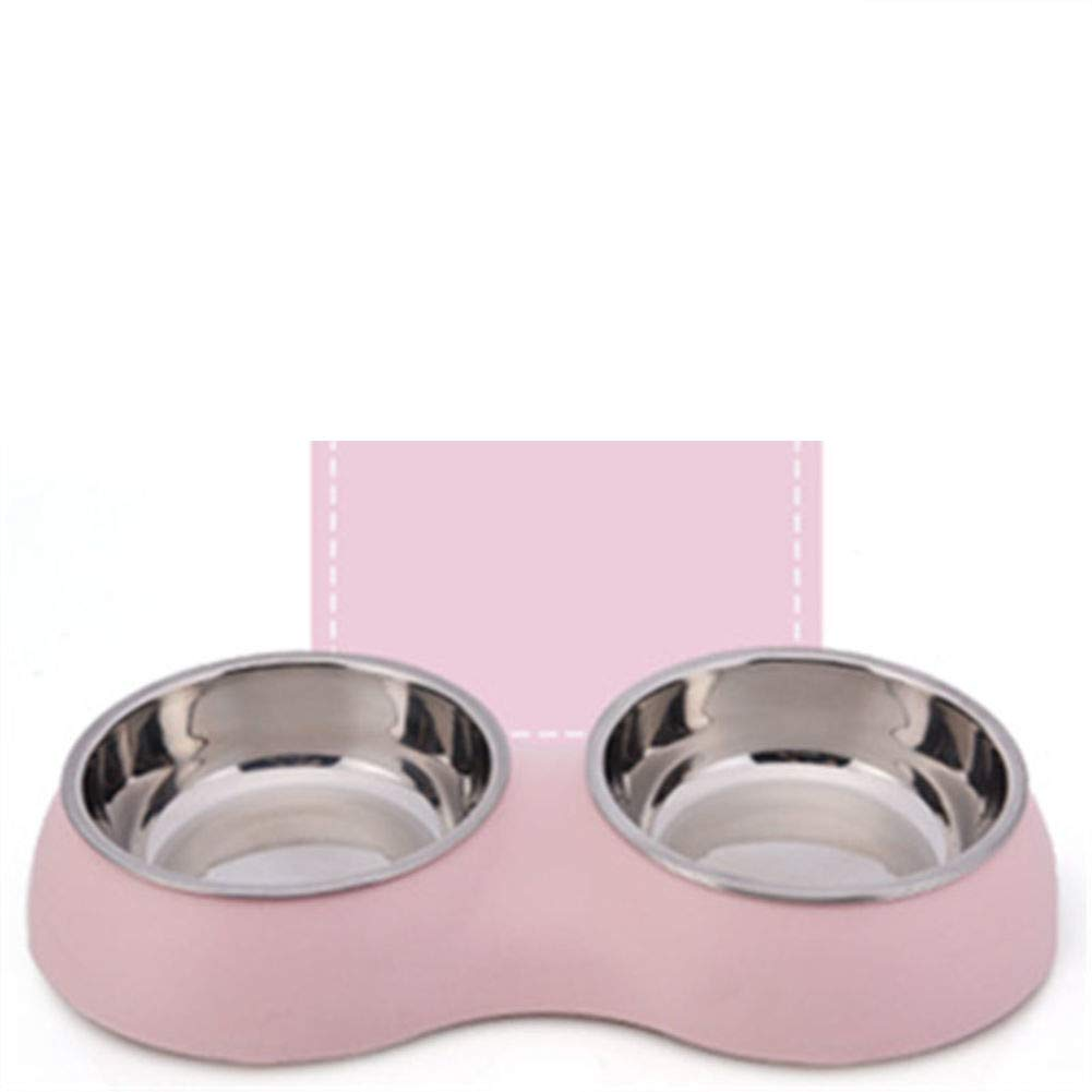 F Stainless Steel Double Bowl,Pet Feeding SuppliesD