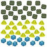 LITKO Gaslands Miniatures Game Token Set, Multi-Colored (50)