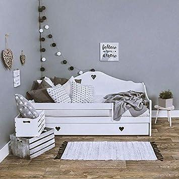 LULU M/ÖBEL SOPHIE Kinderbett Jugendbett Kleinkindbett 160x80 cm Angebot direkt vom Hersteller Grau Massives Kiefernholz mit 10 cm Kokosmatratze und Schublade.