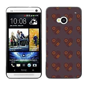 ZECASE Funda Carcasa Tapa Case Cover Para HTC One M7 No.0002776