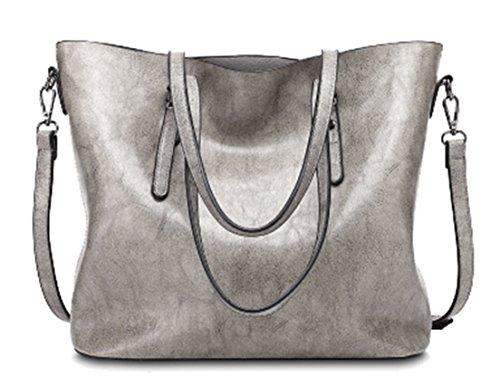 Seaoeey Women Handbags Top-Handle Shoulder Bags PU Leather Tote Crossbody Purse Light ()